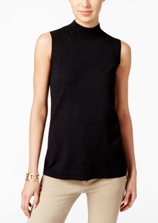 Charter Club Mock-Turtleneck Knit Shell, Only at Macy's