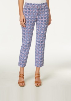 Charter Club Newport Print Slim Leg Cropped Pants, Created for Macy's