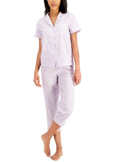 Charter Club Notched Collar Top & Capris Pajama Set, Created for Macy's
