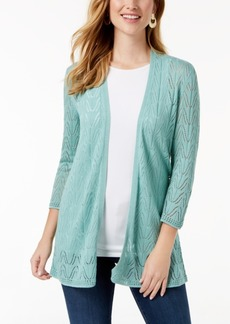 Charter Club Open-Knit Cardigan, Created for Macy's