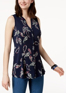 Charter Club Paisley-Print Blouse, Created for Macy's