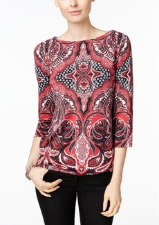 Charter Club Paisley Boat-Neck Top, Only at Macy's
