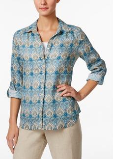 Charter Club Paisley-Print Linen Shirt, Only at Macy's