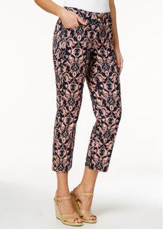 Charter Club Printed Tummy-Control Capri Pants, Only at Macy's