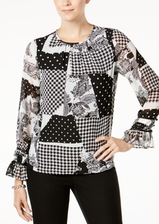 Charter Club Patchwork Printed Blouse, Created for Macy's