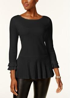 Charter Club Peplum-Hem Sweater, Created for Macy's