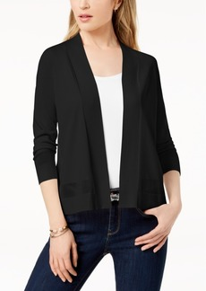 Charter Club Perforated 3/4-Sleeve Cardigan, Created for Macy's
