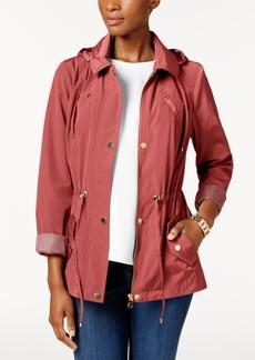 Charter Club Petite Anorak Rain Jacket, Created for Macy's