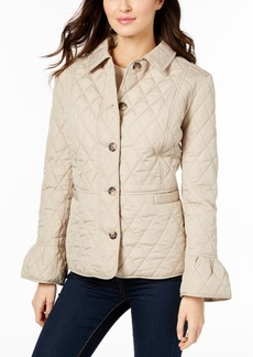 Charter Club Petite Bell-Sleeve Quilted Jacket, Created for Macy's