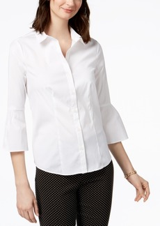 Charter Club Petite Bell-Sleeve Shirt, Created for Macy's