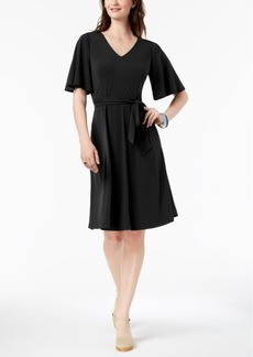 Charter Club Petite Belted A-Line Dress, Created for Macy's