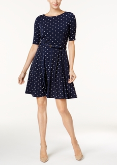 Charter Club Polka-Dot Fit & Flare Dress, Created for Macy's