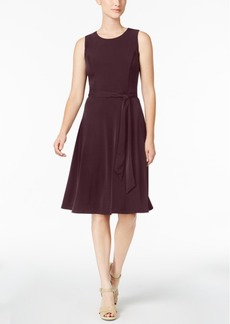 Charter Club Petite Belted Fit & Flare Dress, Created for Macy's