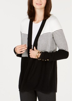 Charter Club Petite Button-Cuff Open-Front Cardigan, Created for Macy's