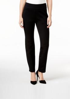 Charter Club Petite Cambridge Tummy-Control Slim-Leg Pants, Only at Macy's
