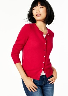 Charter Club Cashmere Crystal-Button Cardigan, Regular & Petite Sizes, Created For Macy's