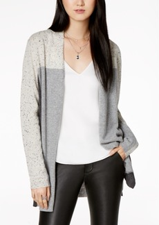 Charter Club Petite Cashmere Donegal Colorblocked Cardigan, Created for Macy's