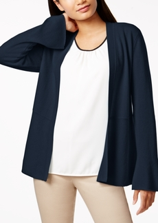 Charter Club Petite Cashmere Peplum Open-Front Cardigan, Created for Macy's