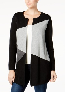 Charter Club Petite Colorblocked Cardigan, Created for Macy's