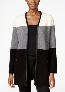 Charter Club Petite Colorblocked Cardigan, Only at Macy's
