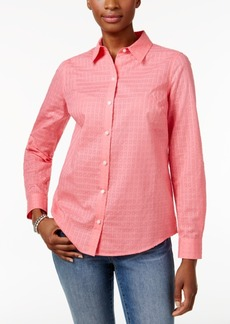 Charter Club Petite Cotton Textured Shirt, Created for Macy's