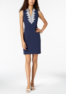 Charter Club Embellished Shift Dress, Created for Macy's