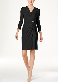 Charter Club Petite Crossover Wrap Dress, Only at Macy's