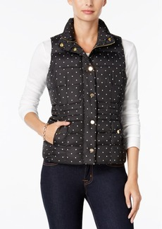 Charter Club Petite Dot-Print Quilted Vest, Only at Macy's