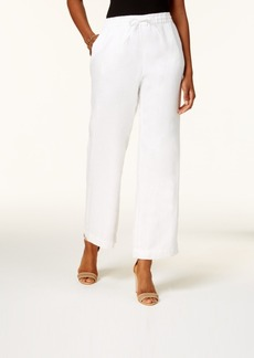Charter Club Petite Drawstring Linen Pants, Created for Macy's