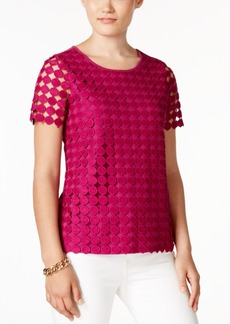 Charter Club Petite Eyelet-Lace Top, Created for Macy's