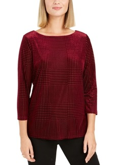 Charter Club Textured Velvet Top, Created For Macy's