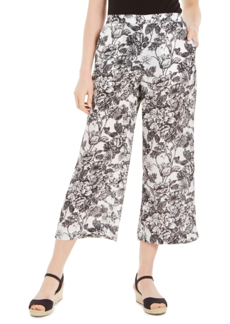 Charter Club Printed Wide-Leg Pants, Created for Macy's