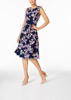Charter Club Petite Floral-Print Fit & Flare Dress, Only at Macy's