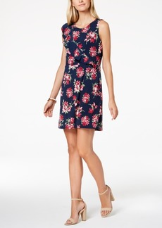 Charter Club Petite Floral-Print Ruffled Shift Dress, Created for Macy's