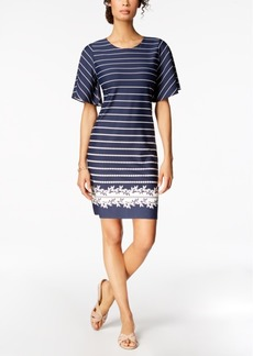 Charter Club Petite Flutter-Sleeve Shift Dress, Created for Macy's