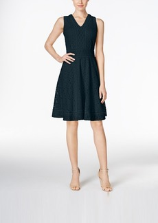 Charter Club Petite Lace Fit & Flare Dress, Only at Macy's