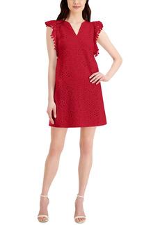 Charter Club Petite Lace Pom-Pom Dress, Created for Macy's