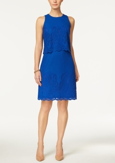 Charter Club Petite Lace Popover Sheath Dress, Only at Macy's