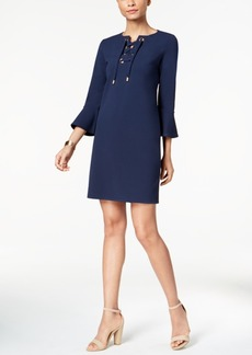 Charter Club Petite Lace-Up Shift Dress, Created for Macy's