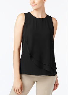 Charter Club Petite Layered-Front Top, Created for Macy's