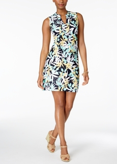 Charter Club Petite Leaf-Print Sheath Dress, Only at Macy's