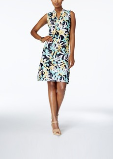 Charter Club Petite Leaf-Print Sheath Dress, Created for Macy's
