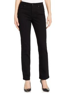 Charter Club Petite Lexington Black Wash Straight-Leg Jeans, Only at Macy's