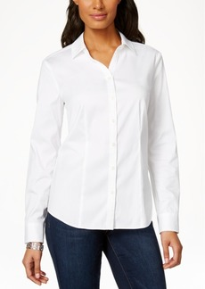 Charter Club Petite Long-Sleeve Shirt, Only at Macy's