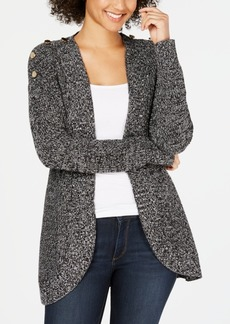 Charter Club Petite Marled Open-Front Completer Cardigan, Created for Macy's