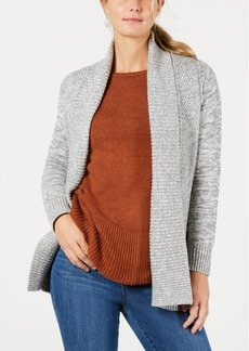 Charter Club Petite Mixed-Knit Cardigan, Created for Macy's