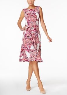 Charter Club Petite Paisley-Print Fit & Flare Dress, Created for Macy's