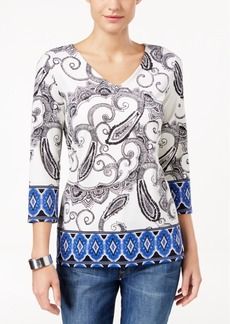 Charter Club Paisley Top, Only at Macy's