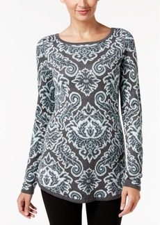 Charter Club Petite Paisley Sweater, Only at Macy's