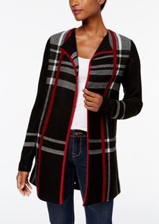 Charter Club Petite Plaid Duster Cardigan, Created for Macy's